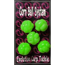 Evolution Carp Tackle - Corn Ball 5-pack Green