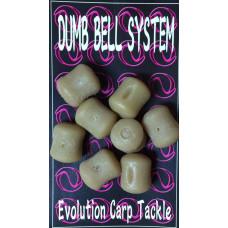 Evolution Carp Tackle - Dumb Bell 8-pack Brown
