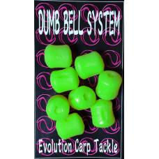 Evolution Carp Tackle - Dumb Bell 8-pack Green