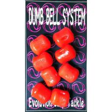 Evolution Carp Tackle - Dumb Bell 8-pack Red