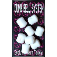Evolution Carp Tackle - Dumb Bell 8-pack White