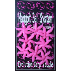 Evolution Carp Tackle -  Maggot Clusters 8-pack washed Out Pink