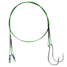 Mivardi - Wire Leader with Swivel and Single Hook