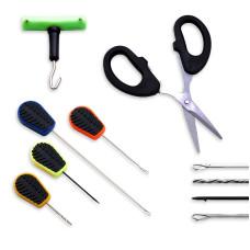 NGT - 6pc Baiting Needle & Scissor Set