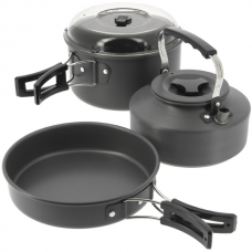 NGT - 3pc Aluminium Kettle, Pot & Pan Set