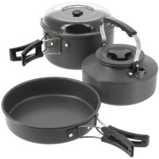 NGT - 3pc Aluminium Kettle, Pot & Pan Set